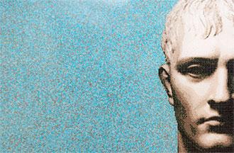 Muster Fliesenmosaik in der Badausstellung des Brochier Badwerk