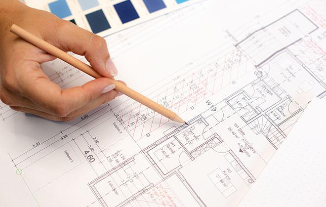 Planung für Sanitär Installation im Badezimmer